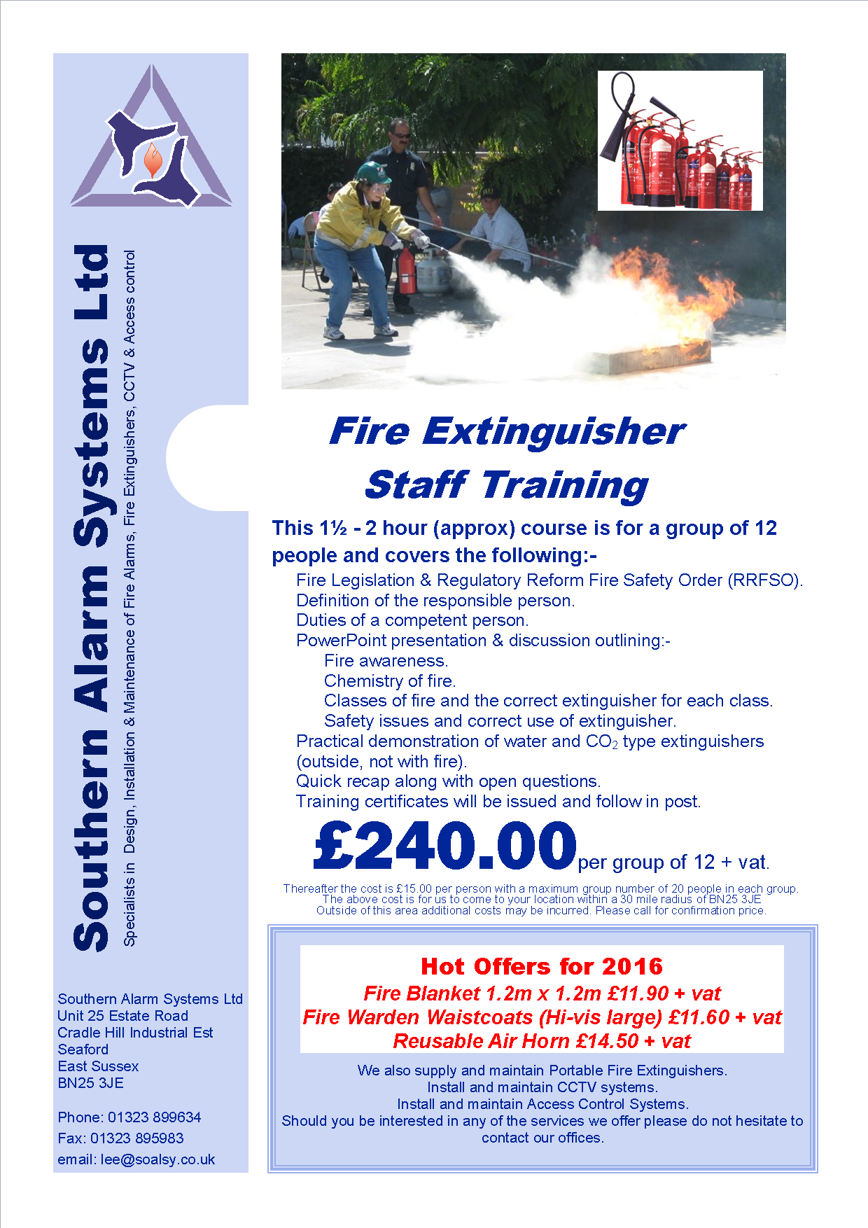 Small image of Fire training flyer
